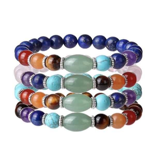 Colorful 7 Chakra Natural Stone Bracelet