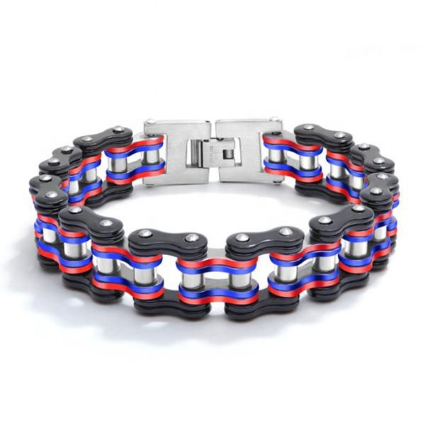 Colorful Bike Chain Metal Bangle Bracelet