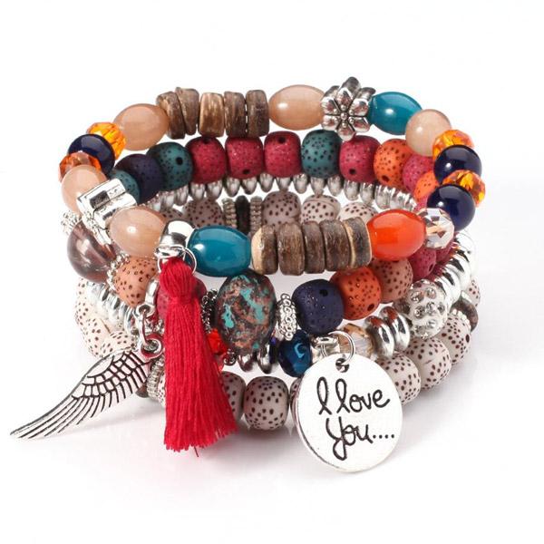 Crystal Bead Bracelets for Women Vintage Bracelet