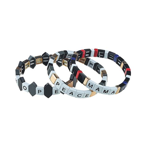 Metal Painted Tile Bracelet