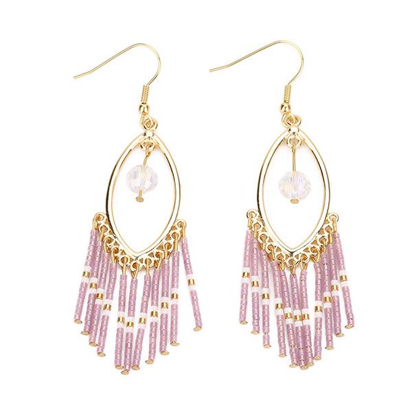Miyuki Seed Beaded Stainless-Steel Jewelry Tassels Earrings