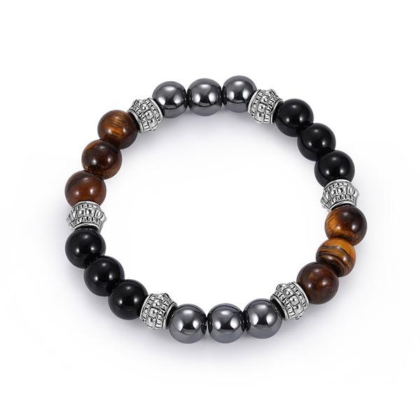 Natural Tiger Eye Stone Bead Bracelet