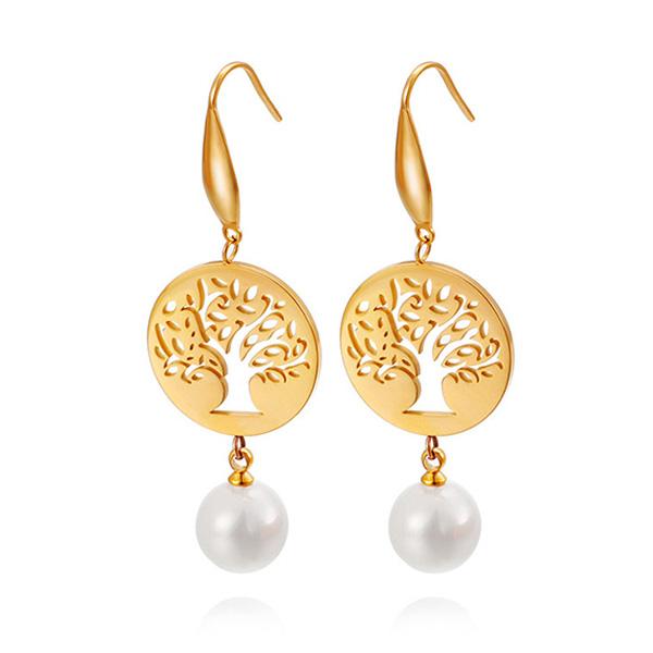 Pearl Beaded Tassel Earrings