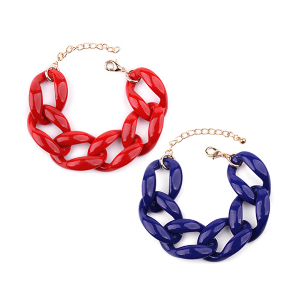 Plastic Acrylic Chain Bracelet