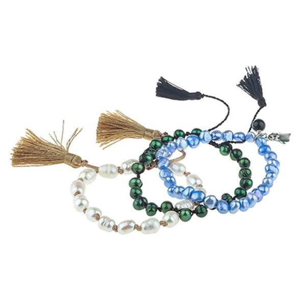 Plastic Acrylic Pearl Bracelet