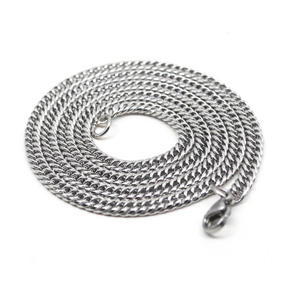 Polished 316L Stainless Steel Necklace