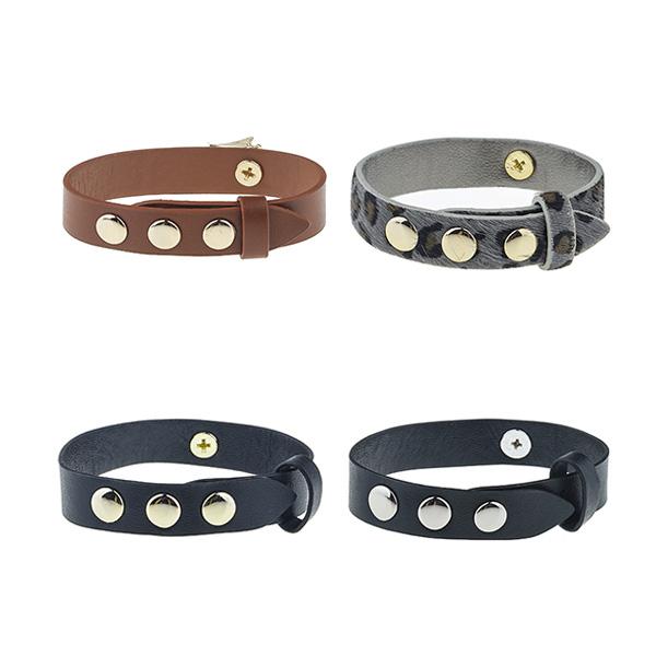 Punk Style Leather Bracelet