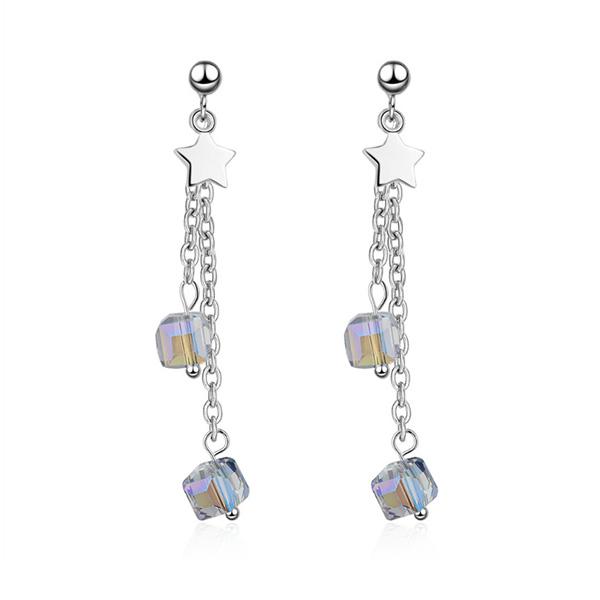 Stainless Steel Crystal Earrings