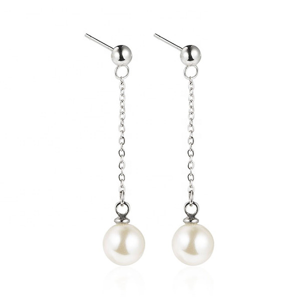 Stainless Steel Jewelry Tassels Pearl Earrings