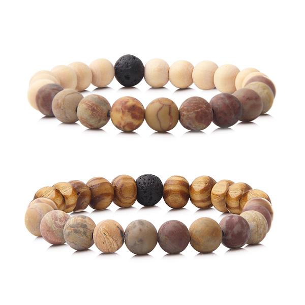 Wood Beads Yoga Bracelet