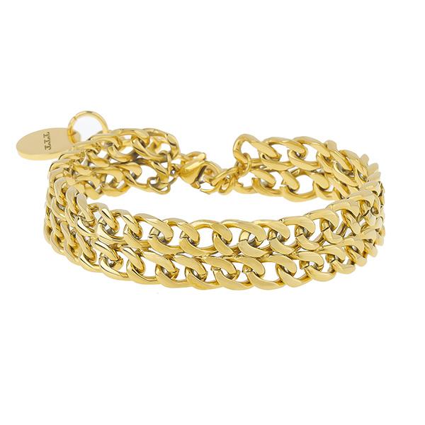 Men's Stainless Steel Cuban Link Stack Bracelet