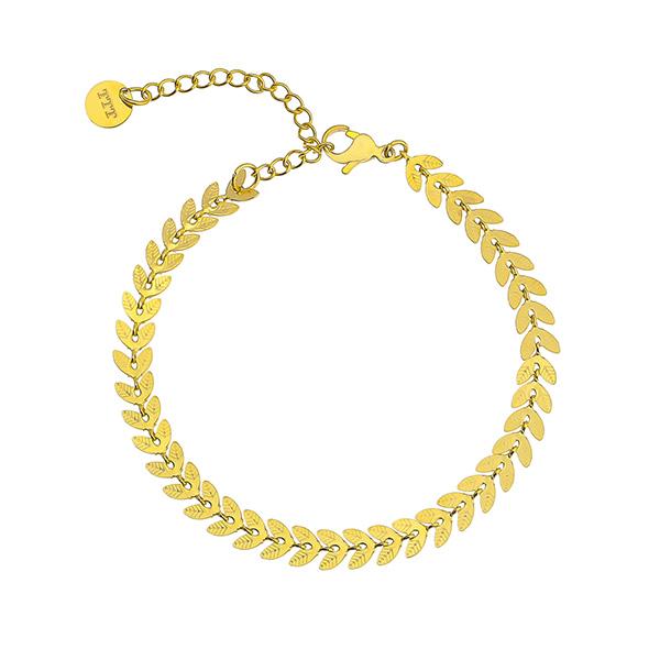 Women's Wheat Stainless Steel Bracelet