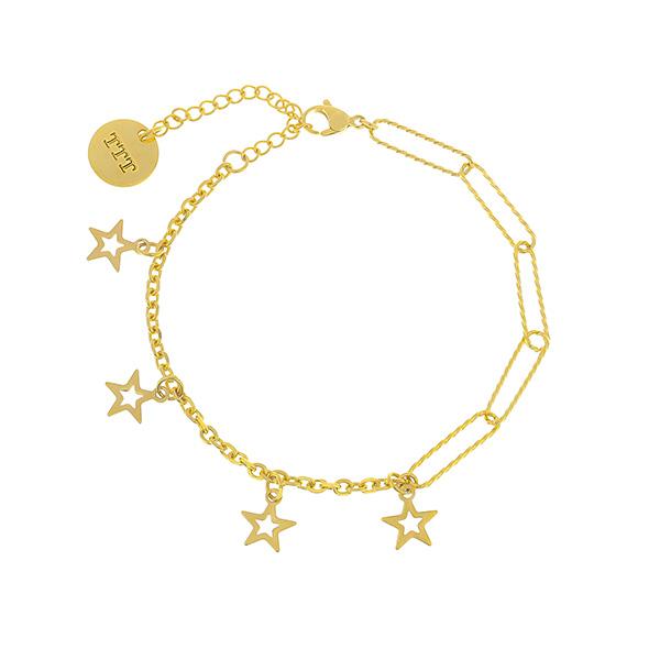 Star Stainless Steel Charm Bracelet